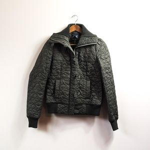 FRENCH CONNECTION Star Bomber Quilted Jacket